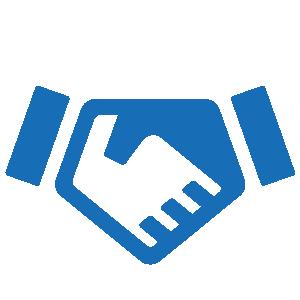 handshake icon blue transparent