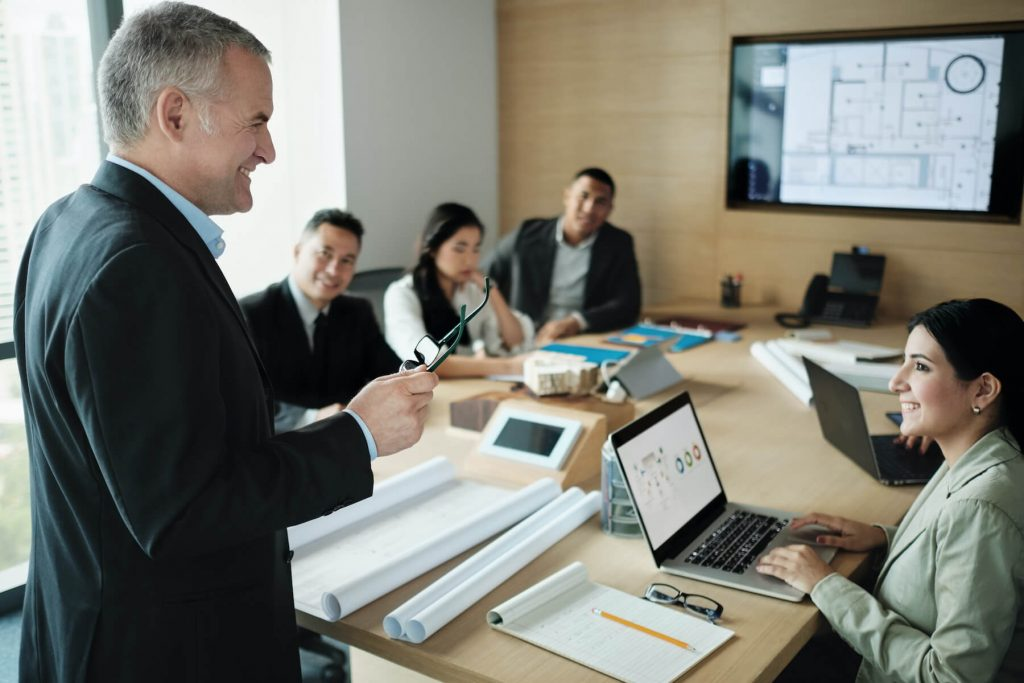 executives working in conference room