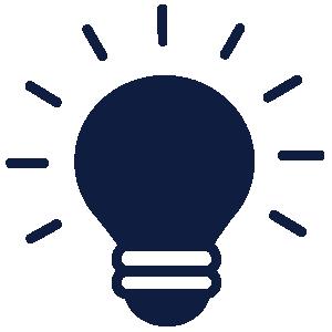 light bulb icon blue transparent