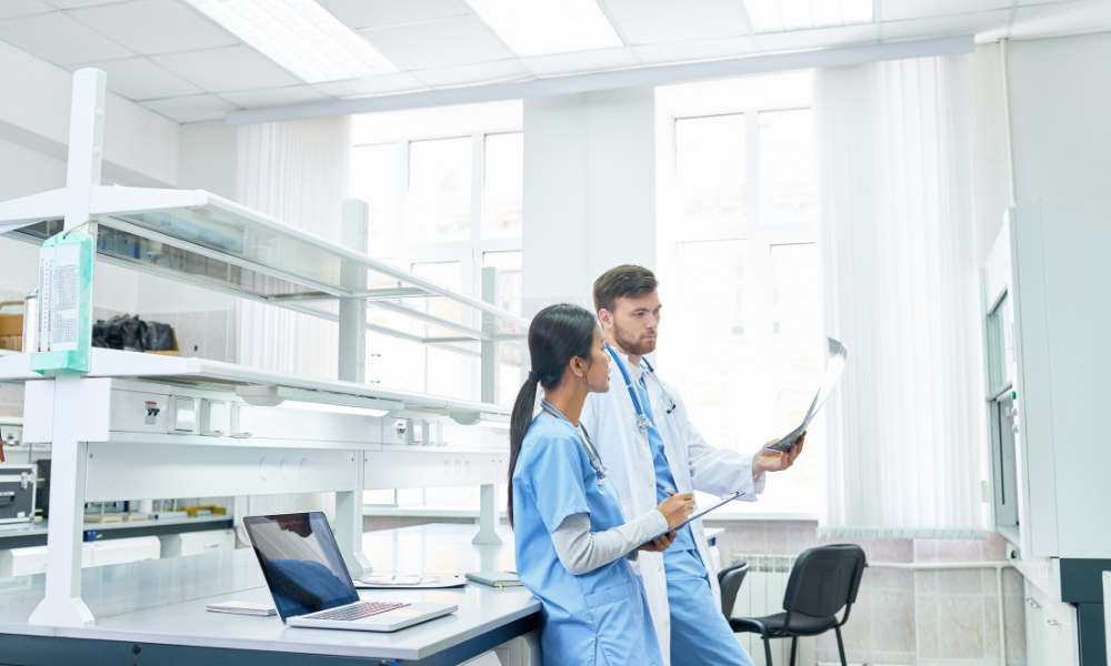doctors working in office after signing medical office lease