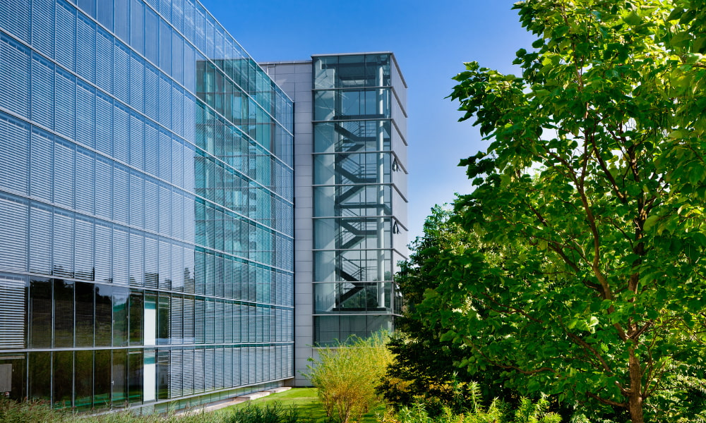 outside of building with green building certification