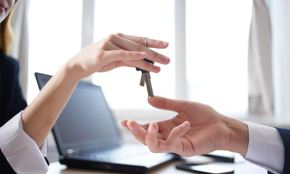 handing key after rental concessions