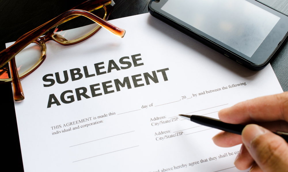 signing commercial sublease agreement