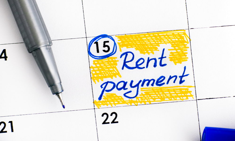 rent payments for commercial sublease agreement