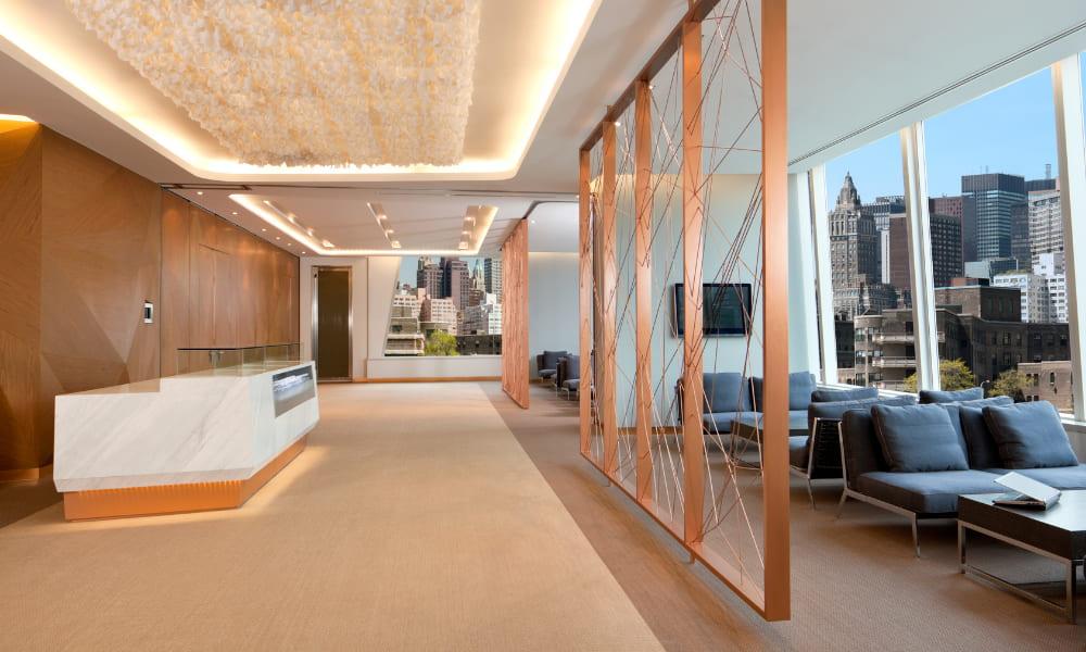 lounge in flexible office space