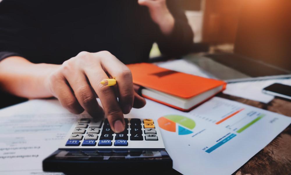 business owner preparing financial information